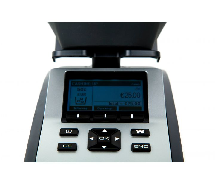 Tellermate Tix-1000 Note and Coin Weigher Screen